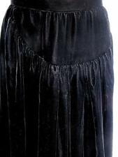 Oscar de la Renta Sz Xs black velvet a lined calf length straight skirt evening