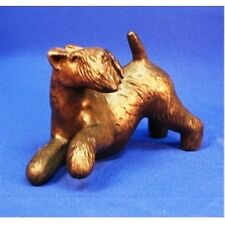 """Lakeland Terrier (Playing) Cold-Cast Bronze Figurine 6"""" Long #63-092"""
