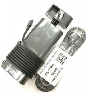 New Genuine Dell 130-Watt Type-C 3-Prong AC Power Adapter For 450-AHOM,T4V18