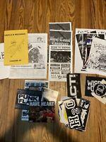 Hardcore Punk Zine/Flyer/Sticker/Patch Lot Turnstile Backtrack H2O