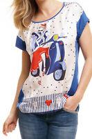 van Laack - Janey T-Shirt Damen Oberteil Top Print navy blau weiß Roller Lady