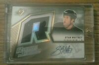 2005-06 SPX Hockey SIDNEY CROSBY ROOKIE AUTO JERSEY ON RYAN WHITNEY ERROR CARD