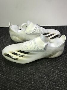 Adidas X Ghosted . 1 White/Black soccer Cleats Size 8.5 FG Men's Only