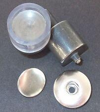 Werkzeug f. CHUNKS S-Feder Druckknopf 15mm Spindel / Handpresse 19/7mm