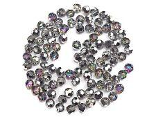 144 Genuine Preciosa Czech Round Mc Crystal Beads 8mm Crystal Vitrail Green Silv