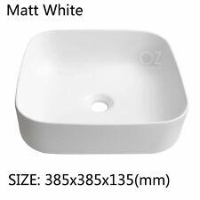 Bathroom Square Above Counter Top Ceramic Basin Sink Vanity Bowl Matte White
