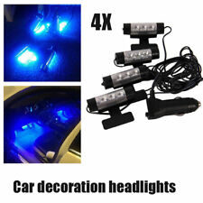 4x 3LED Lamp Lights Car Charge Interior Accessories Floor Decorative Atmosphere