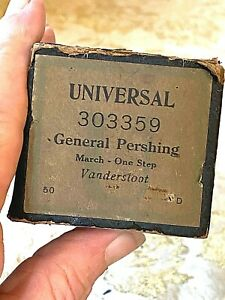 """Universal Player Piano Roll  """"General Pershing"""" No.303359.  Good Condition."""