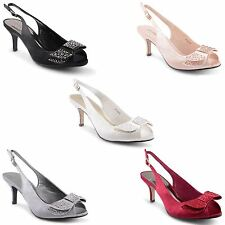 Women's Kitten Mid Heel (1.5-3 in.) Bridal or Wedding Shoes