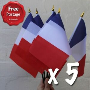 French Flags x Five Small Hand Waving Paris France