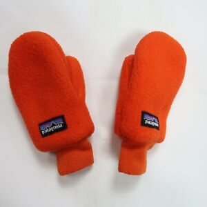 Patagonia Fleece Baby Mittens Orange Winter