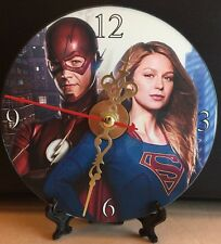 Brand New The Flash and Supergirl CD Clock DC Superheros Action Movies Nice!!