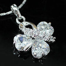 Silver Plated CZ heart Costume Necklaces & Pendants