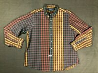 Ralph Lauren Mens  XL Button Front Shirt Plaid and Checked Multi Color