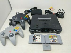 Nintendo 64 Console Bundle + 2 Controllers and Mario Kart 64