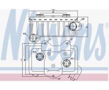 NISSENS Oil Cooler, engine oil 90582