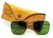 Ray-Ban USA *Mint Vintage 1950s B&L Aviator Rare Brace Caravan Sunglasses & Case