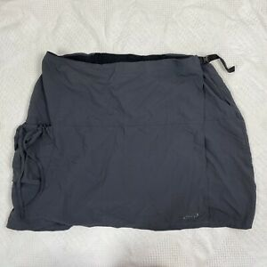 Terry Plus 3XL Padded Cycling Biking Shorts Skirt Skort Gray Wrap Active