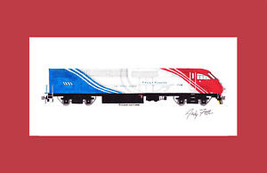 """Utah Transit Authority MP36PH-3C 11""""x17"""" Matted Print Andy Fletcher signed"""