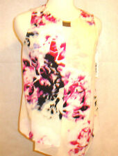 DKNY WOMEN'S BLOUSE **WHITE AND RED FLORAL  ** SIZE SMALL **