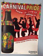 Guinness Beer Poster Carnival Pride Carnival Bottle