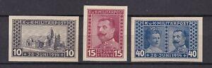 Bosnia Herzeg - 1917 -  Michel 121/123 U - MNH -  120 Euro