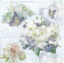 Lot de 4 Serviettes en papier Fleurs Amour Decoupage Collage Decopatch