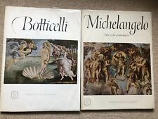 Express Art Books BOTTICELLI & MICHELANGELO 16 Beautiful Prints Each Book