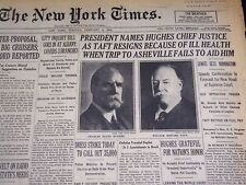 1930 FEBRUARY 4 NEW YORK TIMES - PRESIDENT NAMES HUGHES CHIEF JUSTICE - NT 1554