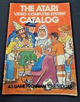 Vtg 1981 Atari Video Computer System Catalog Cartridge Superman Hit Me Dodge 'Em