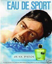 Publicité Advertising 1973 Eau de Toilette Eau de sport Lacoste de Jean Patou