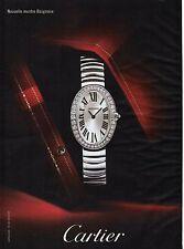 Publicité Advertising 2010 nouvelle montre baignoire CARTIER