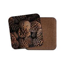 Beautiful Pine Tree Cones Coaster - Pinecones Winter Forest Wildlife Gift #16467