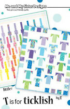 T is for TICKLISH Me & My Sister Layer Cake Friendly Quilting Pattern Moda