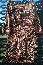 NEW Fall Jessica Howard Starburst Front Seamed 10 or 12 Animal Print Dress