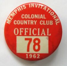 "1962 Memphis Invitational ""Official"" golf golfing pinback button a2"