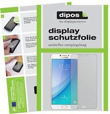 2x Samsung Galaxy C7 Pro Protector de Pantalla protectores mate dipos