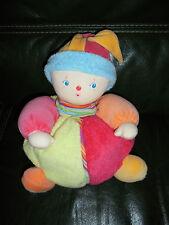Doudou COROLLE Peluche Clown Berlinboule Berlingot Bleu Rose Orange  32 cm