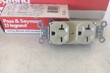 Pass Seymour 5862-I Duplex Receptacle Outlet 15A 125V Ivory ( lot of 3 )