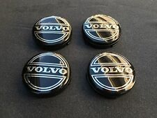 NEW 4PC SET OF 4 VOLVO BLACK CENTER WHEEL HUB CAPS COVER LOGO RIMS 3546923
