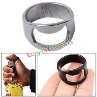 Stainless Steel Metal Finger Ring Beer Wine Bottle Opener Bar Waiter Tool Silver