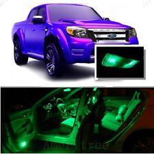 For Ford Ranger 1998+ Green LED Interior Kit + Green License Light LED