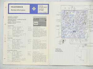 Telefunken Service Information bajazzo compact 102C/interfunk CR 7000 Schaltplan