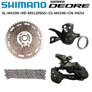 Shimano Deore M4100 Shifter Lever 1x10S M4120 Rear Derailleur SGS Cassette Chain