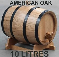 10L American Oak Barrel Keg Wine Spirits Whisky Port Liquor Wood French Toasted
