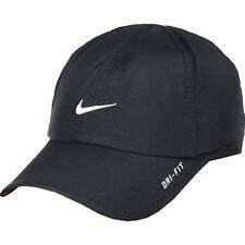 e3b13b281ab New Nike FeatherLight lite Cap Hat Dri Fit Running Tennis 595510-010 Black  White