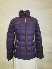 Michael Kors XS Purple Quilted Packable Down Puffer Coat  MK12