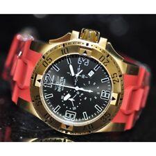 Invicta Rare Men's 11914 Excursion Chronograph Red Polyurethane Watch 119143