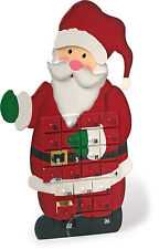 Father Christmas Advent Calendar 56cm Wooden Santa With 24 Gift Box Drawers 1863
