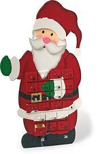 Père Noël Calendrier de l'Avent 56cm en bois avec 24 boite cadeau tiroirs 1863